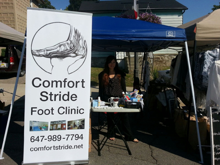 Comfort Stride Vendor Booth In Bradford