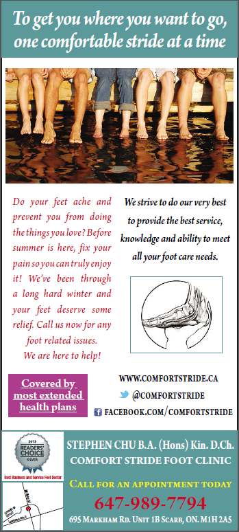 Advertisement For Booking An Appointment With Our Toronto Chiropodist