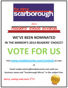 Scarborough Mirror Readers Choice Voting