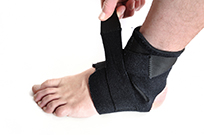 Wrapping The Foot For Ankle Injury Treatment